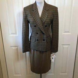 VTG Jones Houndstooth New Wool Skirt Suit NWT  6